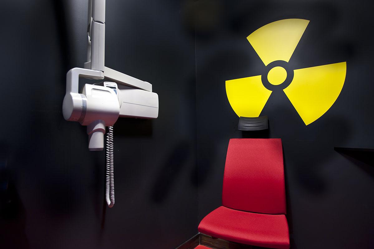 Salle de radiographie rétro alvéolaire